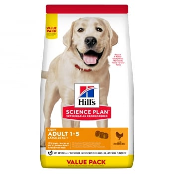 Hill's SP Canine Adult Light Large Breed Pui, Value Pack, 18 Kg imagine