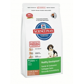 Hill's SP Canine Puppy All Breeds cu Miel si Orez   1 kg