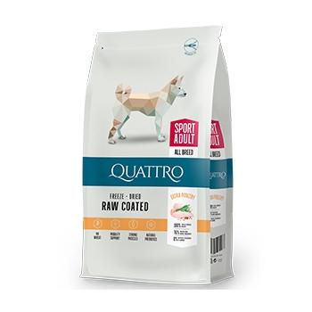 Pachet 2 x Quattro Premium Dog Active Adult All Breed,12 kg imagine