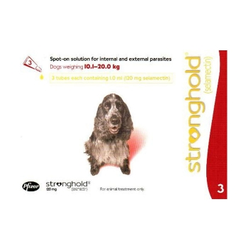 Stronghold Caine 120 mg, 10.1 - 20 kg, 3 pipete