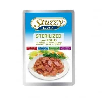 Stuzzy Sterilised Plic cu Pui,100 g