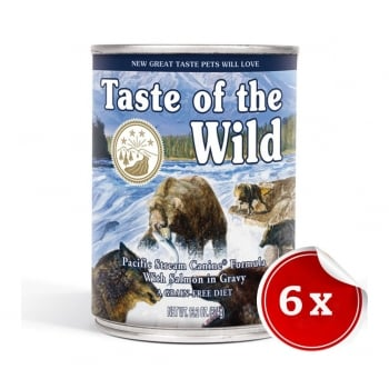 Pachet Conserve Taste Of The Wild Pacific Stream, 6x390 g