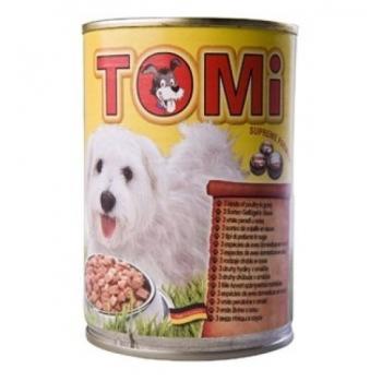 Conserva Tomi Dog cu 3 Feluri de Pasare, 400 g