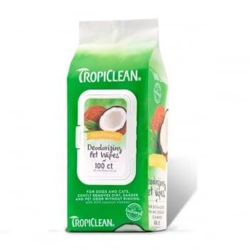 TropiClean Servetele Hipoalergenice, 100 bucati