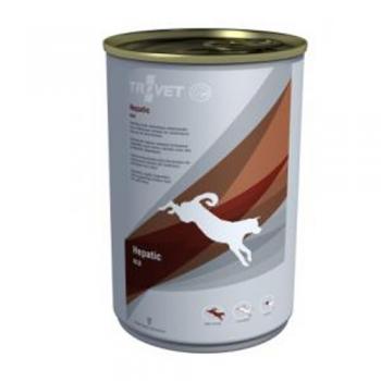 Pachet 4 Conserve Trovet Hepatic Caine, 400 g