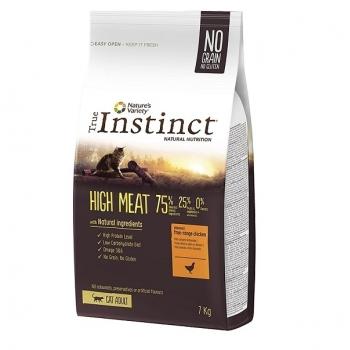True Instinct Cat High Meat cu Pui, 7 kg