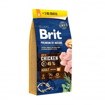 Brit Premium by Nature Adult M 15 + 3 kg