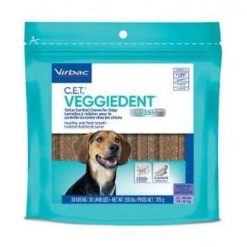 Veggiedent Dental Chew Virbac FR3SH M (10-30 kg), 15 bucati