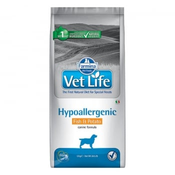 Vet Life Dog Hipoalergenic Peste si Cartofi, 12 kg