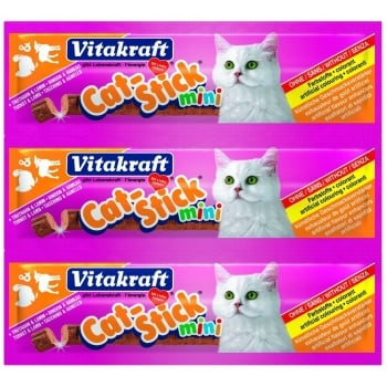 Vitakraft Cat Sticks Curcan Si Miel, 18 g