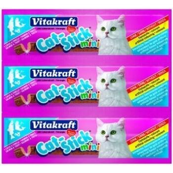 Cat Stick Mini Somon si Pastrav - 3 bucati X 6g
