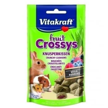 Vitakraft Crossys Snack Rozatoare Wildberry, 50 g imagine
