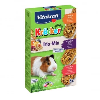 Vitakraft Kracker G Pig Trio Miere, Nuci, Fructe, 168 g imagine