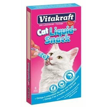 Vitakraft Cat Snack Lichid Somon, 6 x 15 g