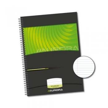 Caiet cu spirala, A4, 72 file - 90g/mp, coperti carton rigid, AURORA Mano - dictando