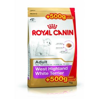 Royal Canin West Highland White Terrier, 500 g + 500 g Gratis