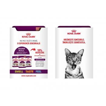 PROMO Royal Canin Sensory Smell/Taste/Feel, plic hrană umedă pisici (în sos), 85g