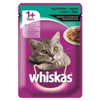 Whiskas Iepure in Sos 100 g