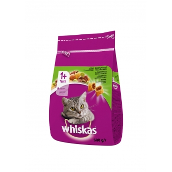 Whiskas Adult cu Miel si Ficat, 300 g