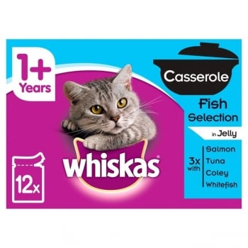 Whiskas Multipack Casserole Selectii de Peste, 4x85g