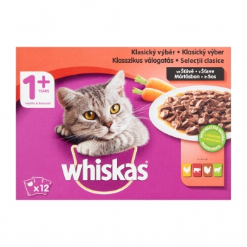 Whiskas Multipack Adult Selectii Clasice, 12x100 g