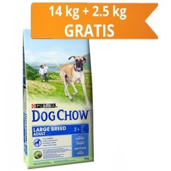 Dog Chow Adult Large Breed Curcan, 14 kg + 2.5 Kg CADOU