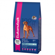 Eukanuba Mature si Senior Large Breed 15 kg + Castron Smarty - antiderapant - 1245ml